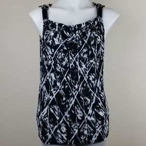 Kenneth Cole Reaction Black & White Top